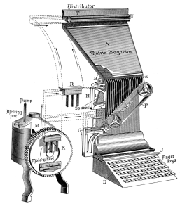 De_Vinne_1904_-_Linotype_machine_diagram