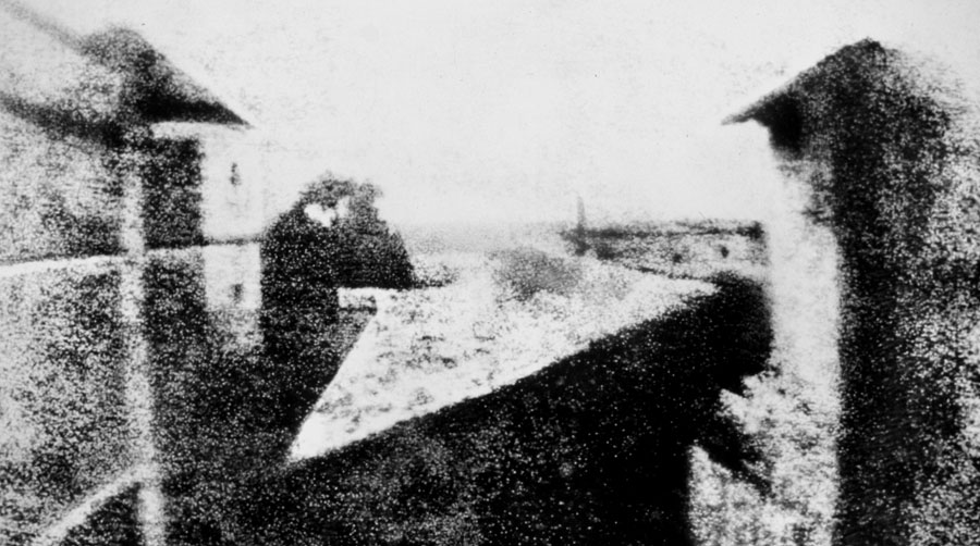View from the Window at Le Gras - acclaimed first permanent photograph